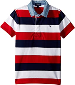 Striped Jersey Rugby Shirt (Little Kids/Big Kids)