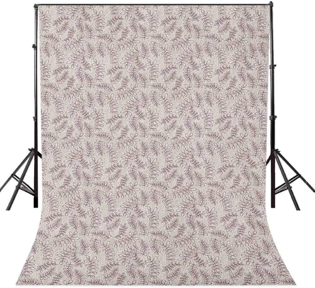 8x12 FT Leaves Vinyl Photography Backdrop,Sketch Foliage Pattern with Victorian Inspirations Antique Motif of Medieval Period Background for Baby Shower Bridal Wedding Studio Photography Pictures