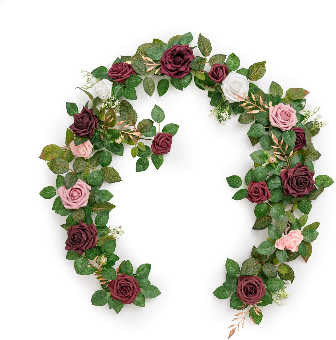 Ling's moment Handcrafted Artificial Rose Challenge the lowest price of Japan Garlan Flower low-pricing Burgundy