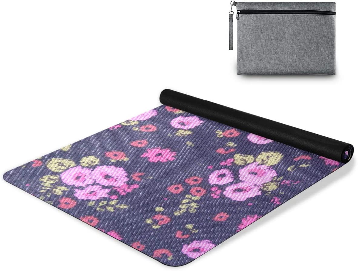 senya Non Slip Yoga Towel Mat In stock Combo Flower F Microfiber Cheap Set