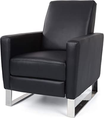 Christopher Knight Home Arvin Push Back High Leg Recliner, Black
