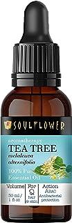 Tea Tree Essential Oil,100% Pure & Organic Undiluted, Powerful Dandruff & Acne Controller, Natural & Safe, Vegan, Aromathe...
