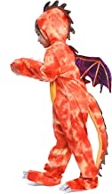 Kids Dinosaur Costume Cosplay Halloween Child Red Fire Breathing Dragon Party Fancy Dress