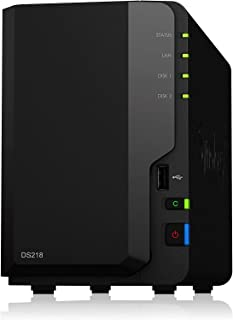 Synology DS218/2G/20T WDRED NAS Systeme 20To Schwarz