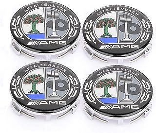 Naafdoppen voor naafdoppen van 75 mm, embleem voor naafdoppen voor Mercedes Benz/AMG, pakket van 4 (AMG)