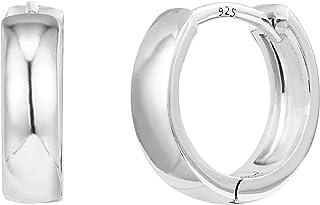 PAVOI 14K Gold Plated Sterling Silver Post Huggie Earrings | Small Hoop Earrings |Gold Earrings for Women