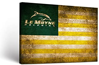 Victory Tailgate Le Moyne College Dolphins Canvas Wall Art Vintage Flag Design
