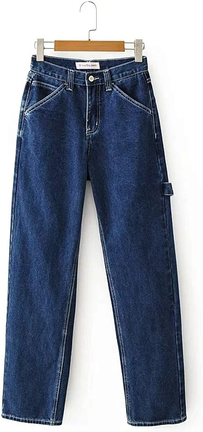 Autumn European and American Women's Fashion Washed Loose Casual Pants High