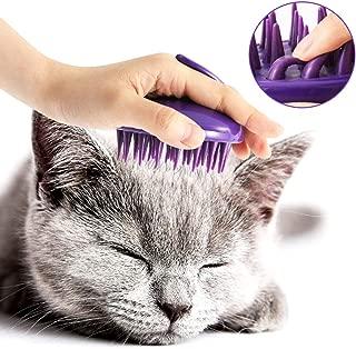 CELEMOON Ultra-Soft Silicone Washable Cat Grooming Shedding Massage/Bath Brush - Safe & No Scratching Any More