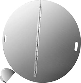 VEVOR Fire Pit Lid 40 Inch Round Stainless Steel 3mm Thick Iron 38.4 Pounds, Silver