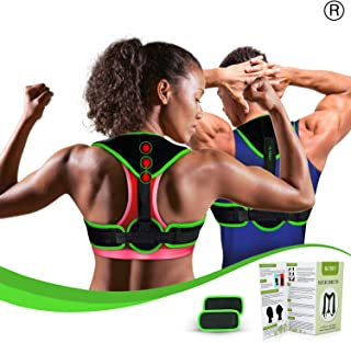 Clavicle Brace Neck Hump Corrector, Posture Corrector for Women & Men, Magnetic Upper Back Brace Slouch Posture Support, Upright Posture Trainer, Back Straightener, Best Scoliosis Primate Brace (S-L)
