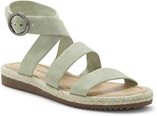 Lucky Brand Women's DELFINNE Flat Sandal, Desert sage, 8.5