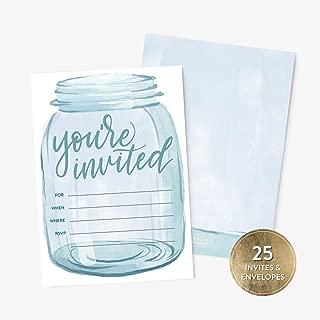 Best bridal shower invitations mason jar Reviews