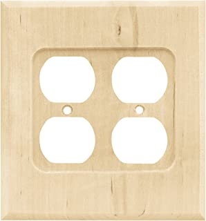Franklin Brass W10398-UN-C Square Double Duplex Wall Plate/Switch Plate/Cover, Unfinished Wood