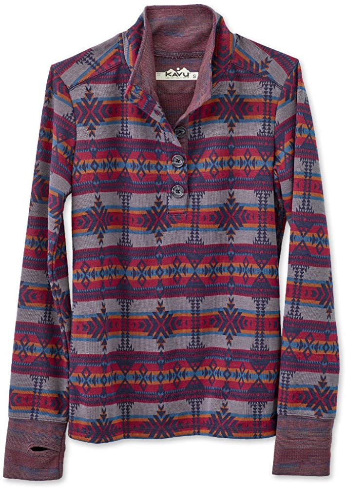 KAVU Lopez Spandex Button Max 68% OFF Limited time sale Up - Crew Outdoors Yoga Neck Sweater