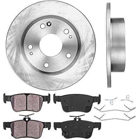 2014 Fits Honda Civic Si Front Ceramic Brake Pads with Hardware Kits and Two Years Manufacturer Warranty