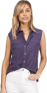 Womens 100% Silk Shirt Ladies Silk Blouses Casual Long Sleeve Elegant Top