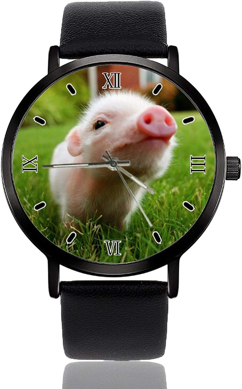 online shop Pig Wrist Superlatite Watch Custom Design Analog Black Quartz Dial Wathes Cl