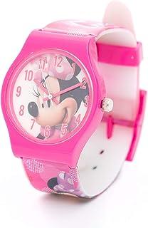 ساعة يد ديزني مع حزام ميني ماوس بنات مينا عقارب - TT1062 C