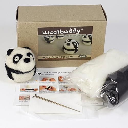 Woolbuddy Needle Felting Panda Kit by Woolbuddy
