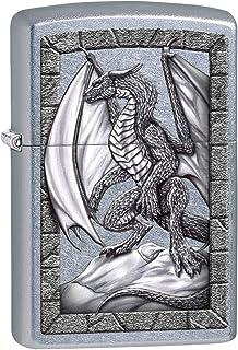 فندک Zippo: Dragon on Rock - Street Chrome 80433