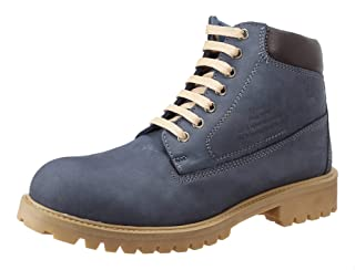 Salerno Nubuck Round Toe Lace-up Ankle Boots For Men