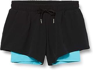 Marca Amazon - AURIQUE Shorts para Correr con Doble Capa Mujer