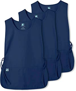Adar Unisex Cobbler Apron (3 Pack) with 2 Pockets/Adjustable Ties - Available in 30 Colors