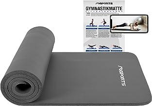 MSPORTS gymnastiekmat Studio 183 x 61 x 1 cm of 183 x 61 x 1,5 cm | incl. oefenposter en draagriemen | huidvriendelijk - f...
