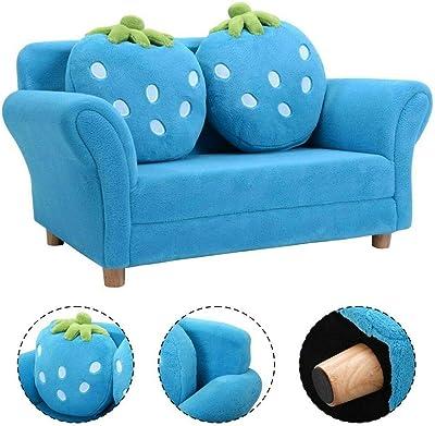 Amazon.com: Sofá de espuma para niños, silla tapizada de ...