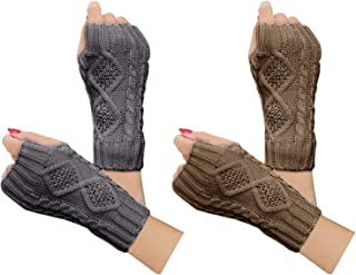 Debra Weitzner Womens Winter Arm Warmers Long Fingerless Gloves 6 Pairs For Cycling Skiing Mountain Climbing Assorted