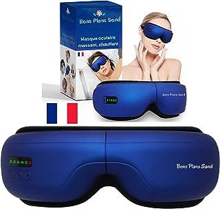 Masseur Oculaire. Masque Massage des Yeux (modèle 2021). Appareil Oculaire Massant Chauffant, Musique Bluetooth. Soulagez ...