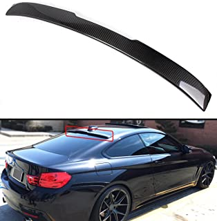 Cuztom Tuning Fits for 2014-2019 BMW F32 4 Series & 2015-2019 F82 M4 2 Door Coupe Carbon Fiber Rear Window Roof Spoiler