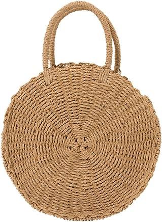 WFYJY-rundschreiben aus Tasche Handgemacht Stroh aus aus aus Tasche ferienort badetasche Mode-Handtasche. B07FNBZZ66 | Qualität  473497