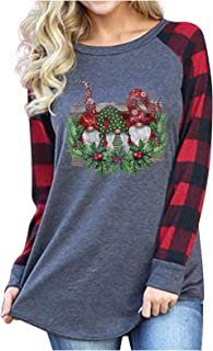Fudule Christmas Shirts for Women Funny Graphic Long...