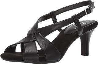Aerosoles - Women's Passcode Heeled Sandal - Open Toed Dress Heel with Memory Foam Footbed