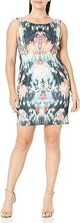 Nicole Miller womens Canopy Neoprene V Back Dress Canopy Neoprene V Back Dress