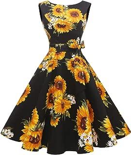 blue sunflower dress