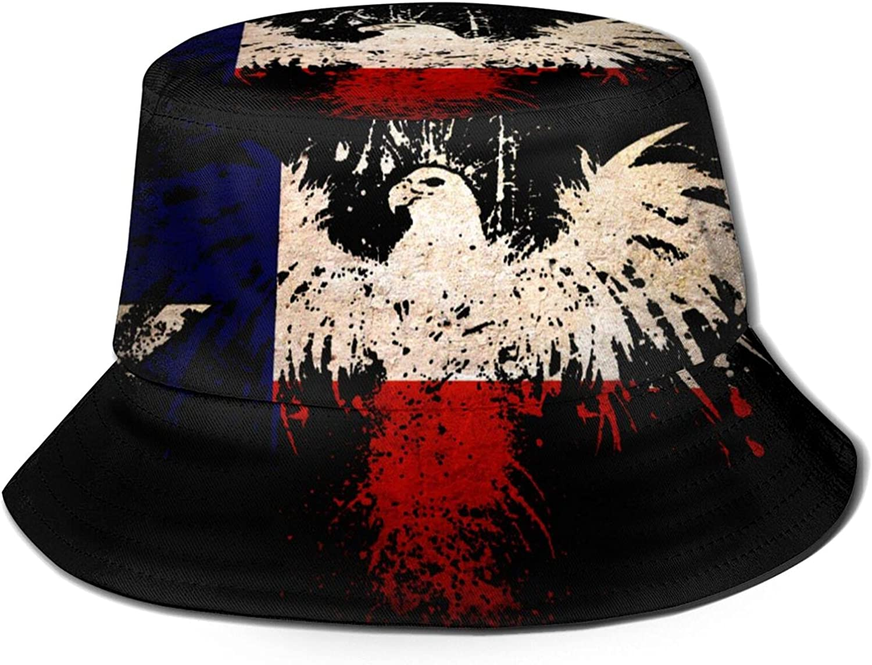 Texas Flag Skull Bucket Hat Unisex Sun Hat Summer Packable Fisherman Hats Black