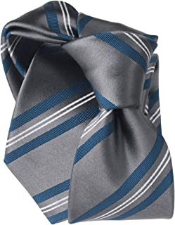 [ステファノ ビジ] ネクタイ ビジネス ブランド イタリア製 メンズ おしゃれ シルク 結婚式 ストライプ グレー
