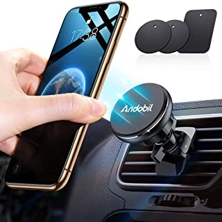 Andobil Magnetic Phone Car Mount, Upgraded Hands-Free Air Vent Cell Phone Holder for Car, Strong Twist-Lock Clip Compatible with iPhone 11 Pro MAX XS XR X 8 7 Plus, Samsung Note 10 9 Galaxy S10 S9 S8