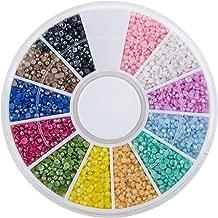 Pearl Mixed AB Colors DIY Half Bead Flat Back Plastic Craft Plastic Box (1.5mm Approx 3800pcs)