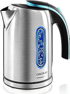 comprar comparacion Cecotec Hervidor de Agua Eléctrico ThermoSense 270 Steel. 1,7 litros, Libre de BPA, Acero Inoxidable, Base 360º, Filtro An...