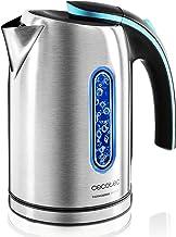 Cecotec Bouilloire électrique ThermoSense 270 Steel, BPA, 2200 W, Base 360º, Filtre anticalcaire, Double système de sécuri...