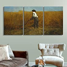 wall26 3 Panel World Famous Painting Reproduction on Canvas Wall Art - The Veteran in a New Field 1865 by Winslow Homer - Modern Home Decor Ready to Hang - 16