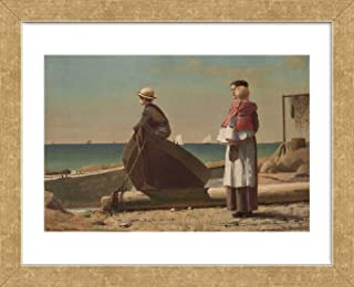 McGaw Graphics Dad's Coming!, 1873 by Winslow Homer Framed Print, 16x13x1, Multi