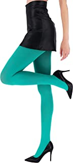 CozyWow Women's 80D Soft Solid Color Semi Opaque Footed Tights