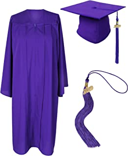 Unisex Adult Graduation Gown with Cap and Tassel 2019 Matte Gown