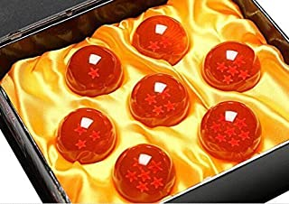 7 Collector's Edition Dragon Balls - Cool Dragonball Z Toys - Transparent Acrylic With Star Design - Great for Cosplayers and Collectors - Retro Gift Box and Cleaning Cloth Included