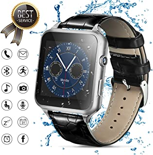 Smart Watch,Bluetooth Smartwatch Touch Screen Smart Phone Watch Android Smartwatch Bluetooth Watch with Camera/SIM Card Slot Sports Mens Wrist Watch Waterproof Bluetooth Smart Watch for Android Phones